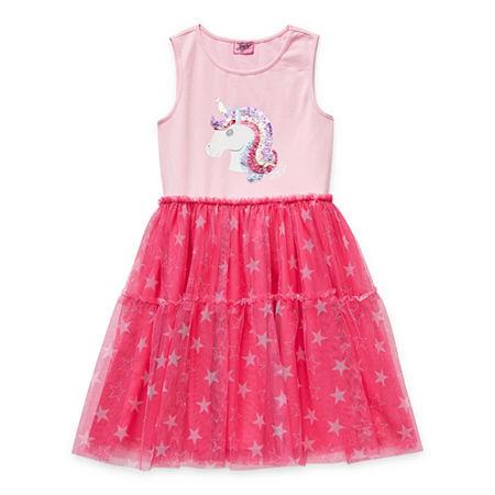 Jojo Siwa Little & Big Girls Sleeveless Tutu Dress, X-small (6-6x) , Pink