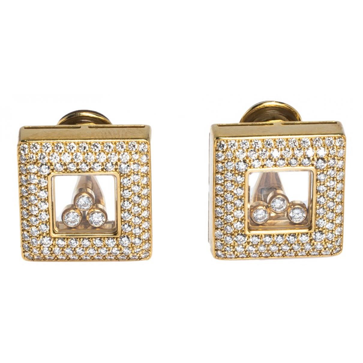 Chopard - Boucles doreilles Happy Diamonds pour femme en or jaune