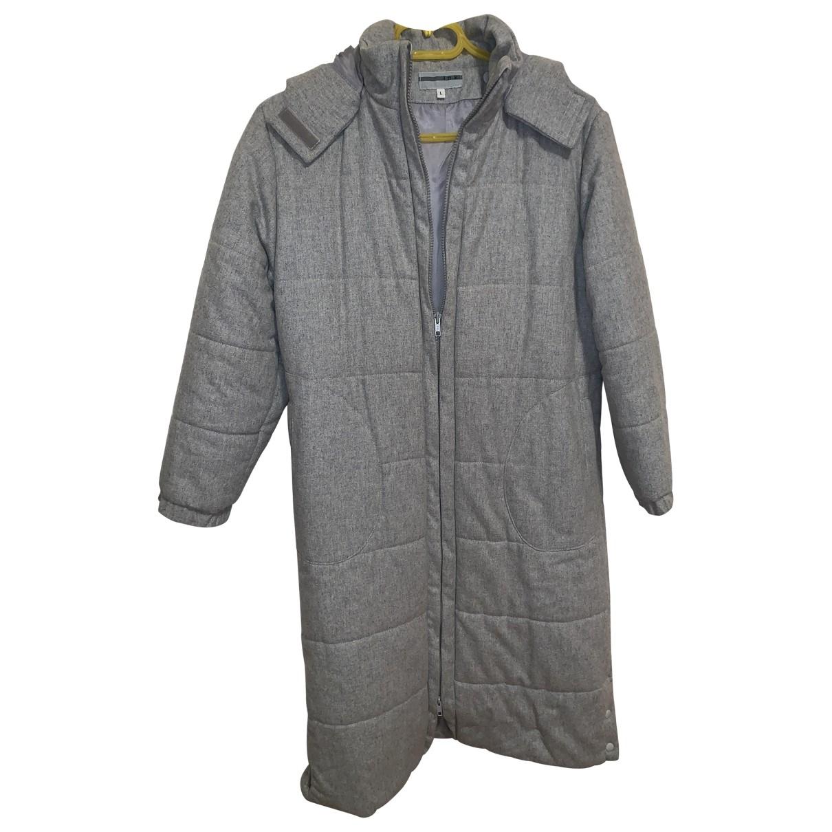 - Manteau Oversize pour femme en laine - gris