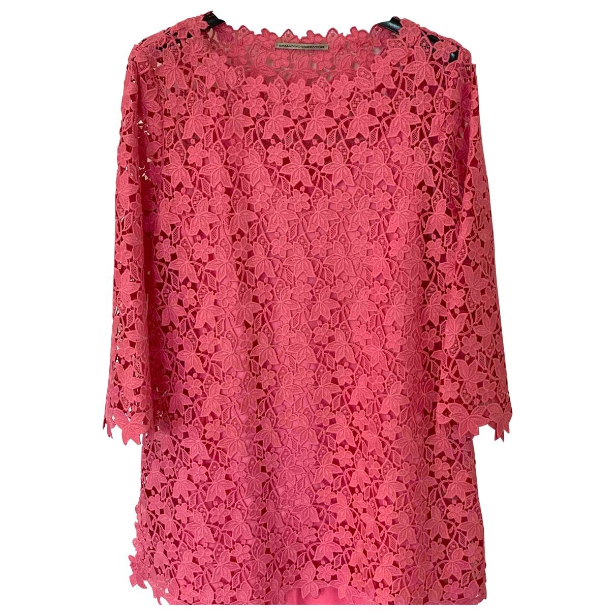 Ermanno Scervino - Robe   pour femme en dentelle - rose