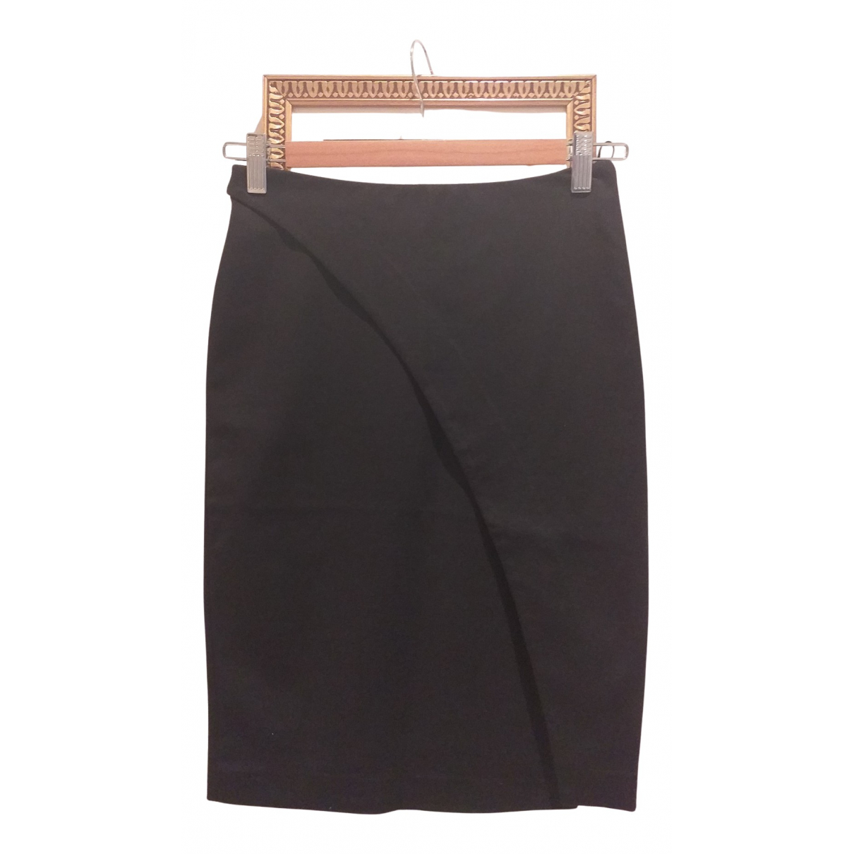 Emporio Armani - Jupe   pour femme en coton - elasthane - noir