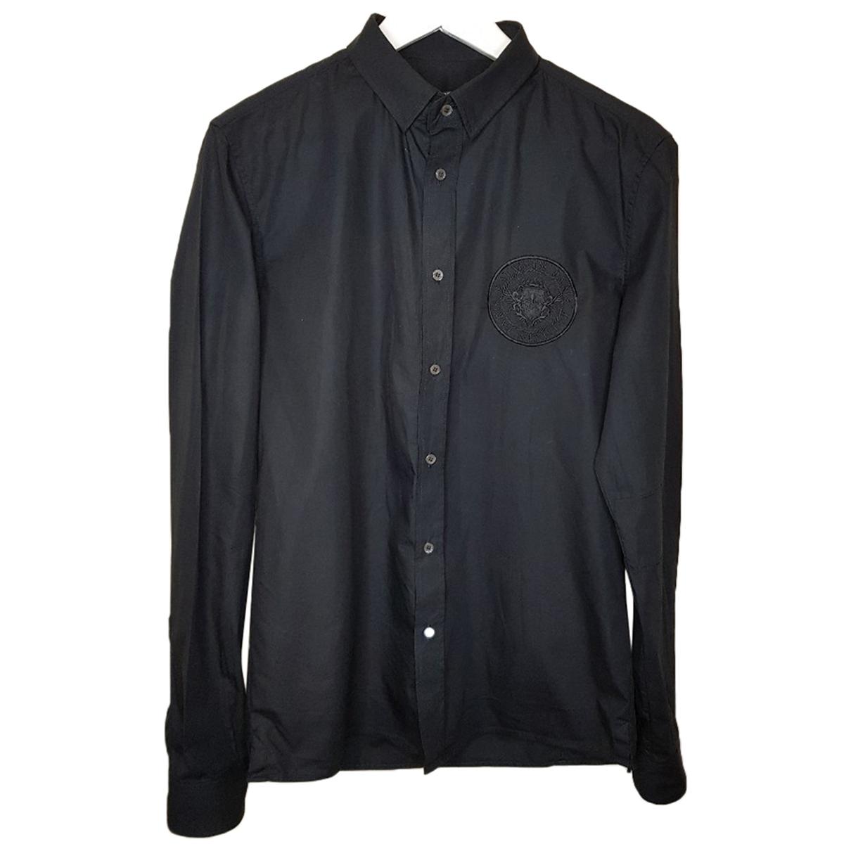 Balmain \N Black Cotton Shirts for Men 38 EU (tour de cou / collar)