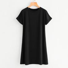 Mini T-Shirt Kleid mit kurzen Ärmeln
