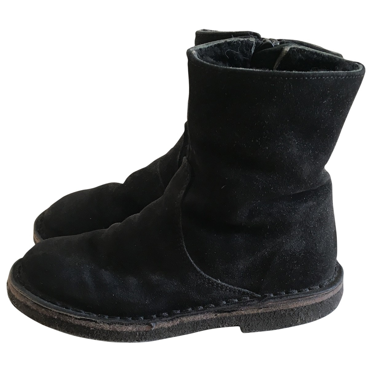 Pepe Children Shoes \N Black Suede Boots for Kids 25 EU