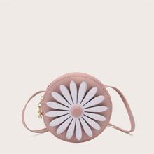 Bolsa bandolera de niñas con estampado floral