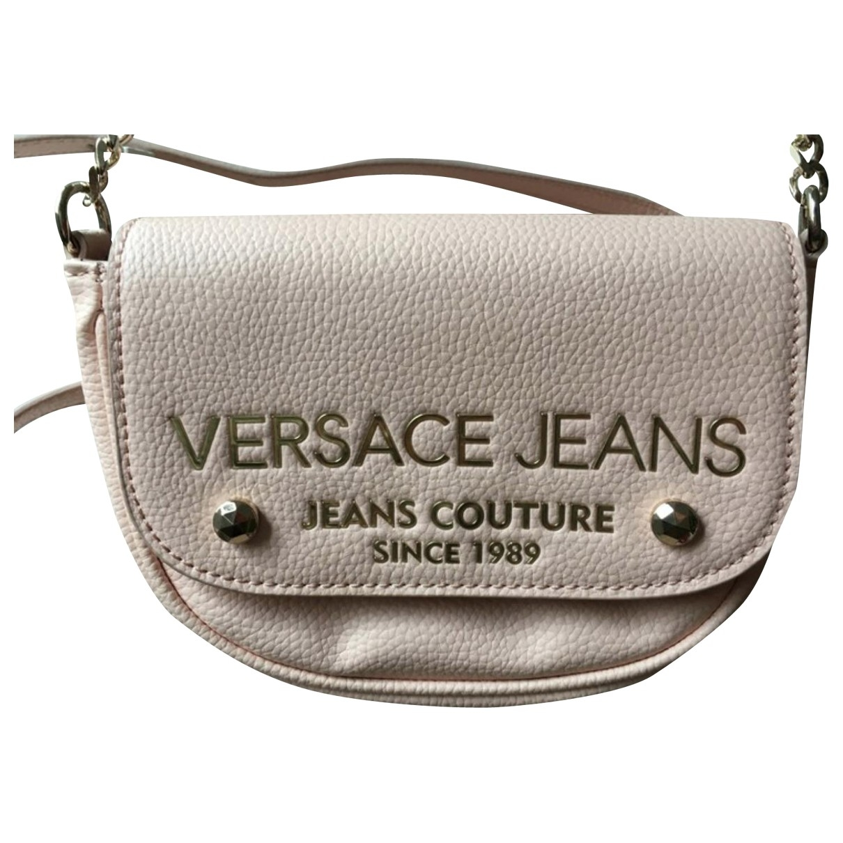 Versace Jean - Sac a main   pour femme en cuir - rose