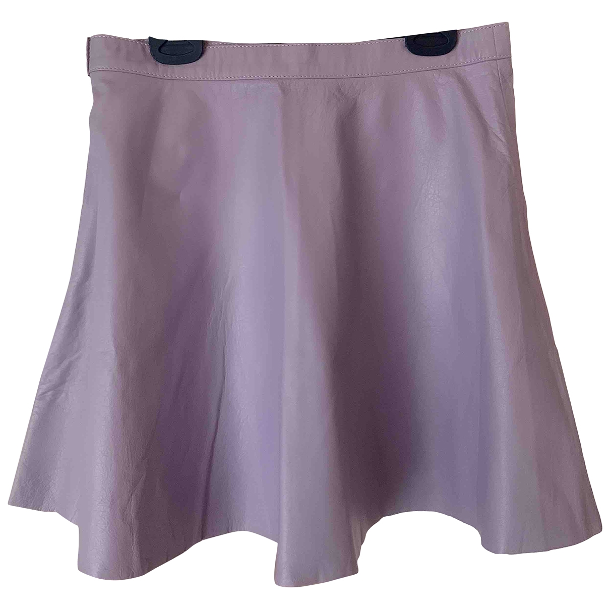 Mini falda de Cuero American Apparel