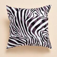 Kissenbezug mit Zebra Streifen Muster ohne Fuelle