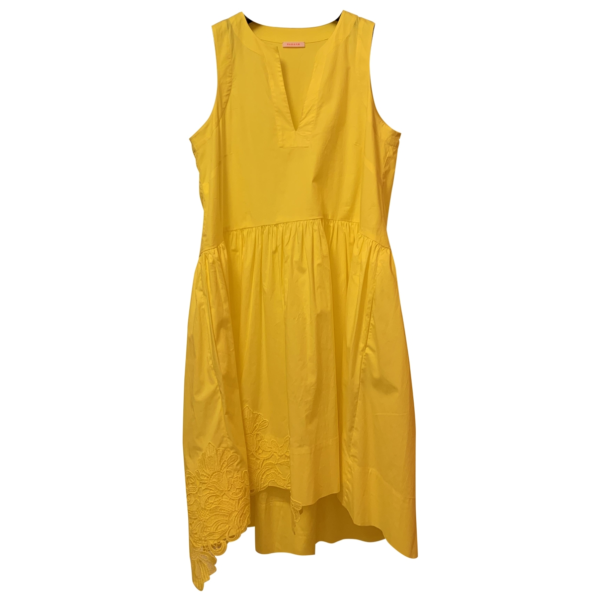 Parosh \N Yellow Cotton dress for Women M International