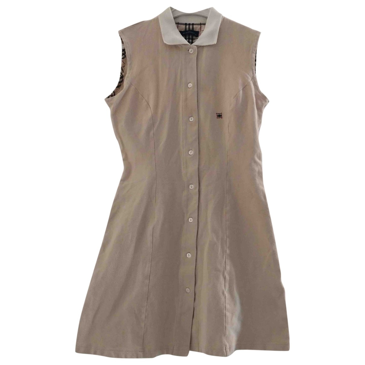 Burberry \N Beige Cotton - elasthane dress for Kids 14 years - S UK