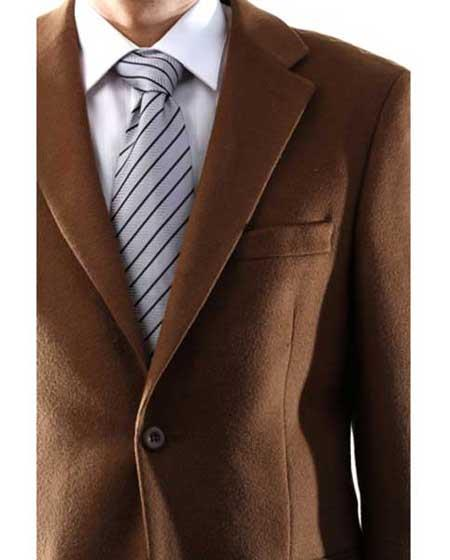 Mens Single Breasted 2 Button Lamb Wool Cashmere Sport Coat  Blazer