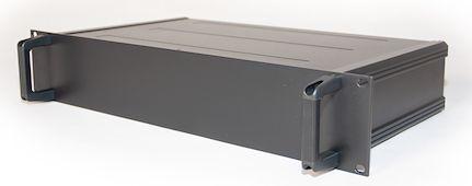 RS PRO , 2U Rack Mount Case, 245 x 425 x 84mm, Black