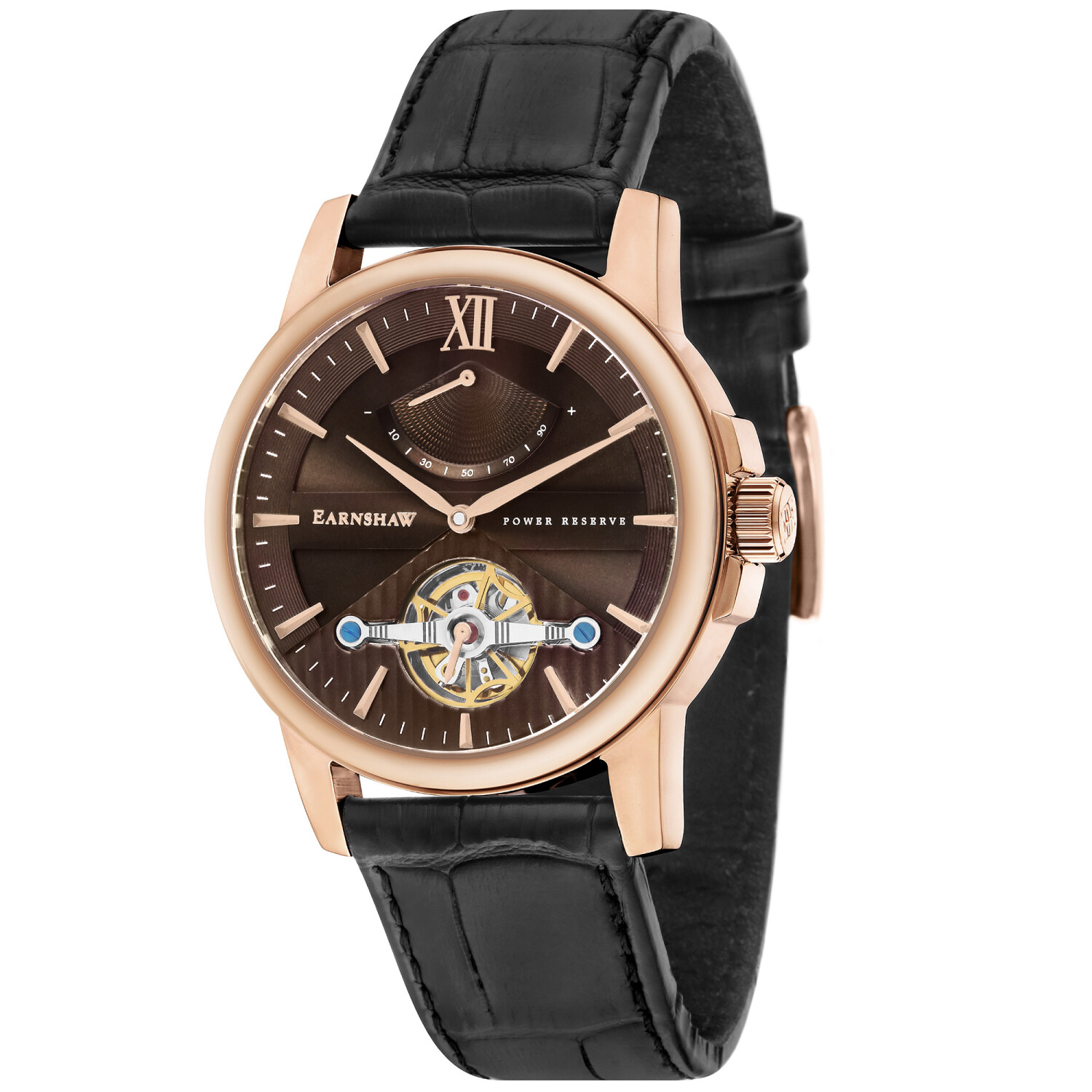 Thomas Earnshaw Men's Flinders ES-8080-03 Brown Leather Automatic Self Wind Fashion Watch