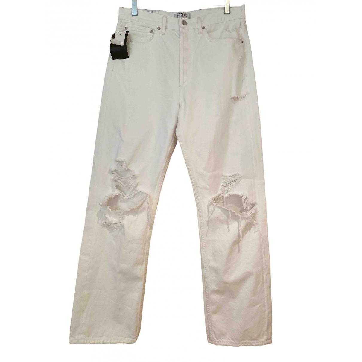 Agolde \N White Denim - Jeans Jeans for Women 28 US