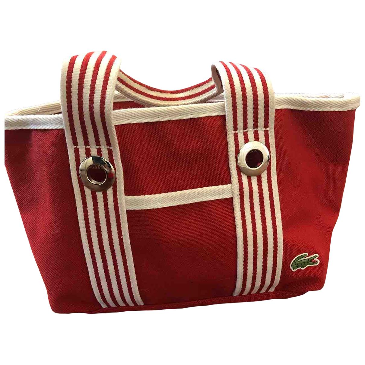 Lacoste \N Red Cloth handbag for Women \N