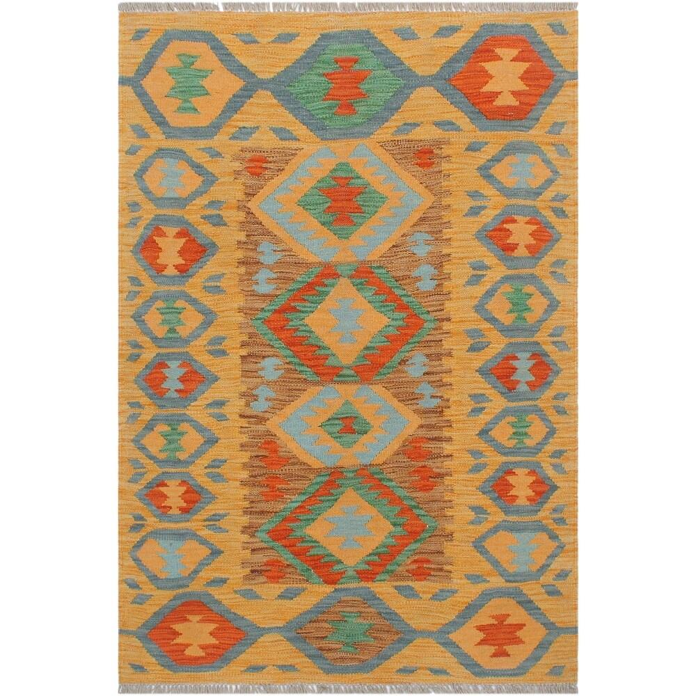Vintage Turkish Kilim Bianca Hand-Woven Area Rug - 211 x 40 (Brown - 211 x 40)