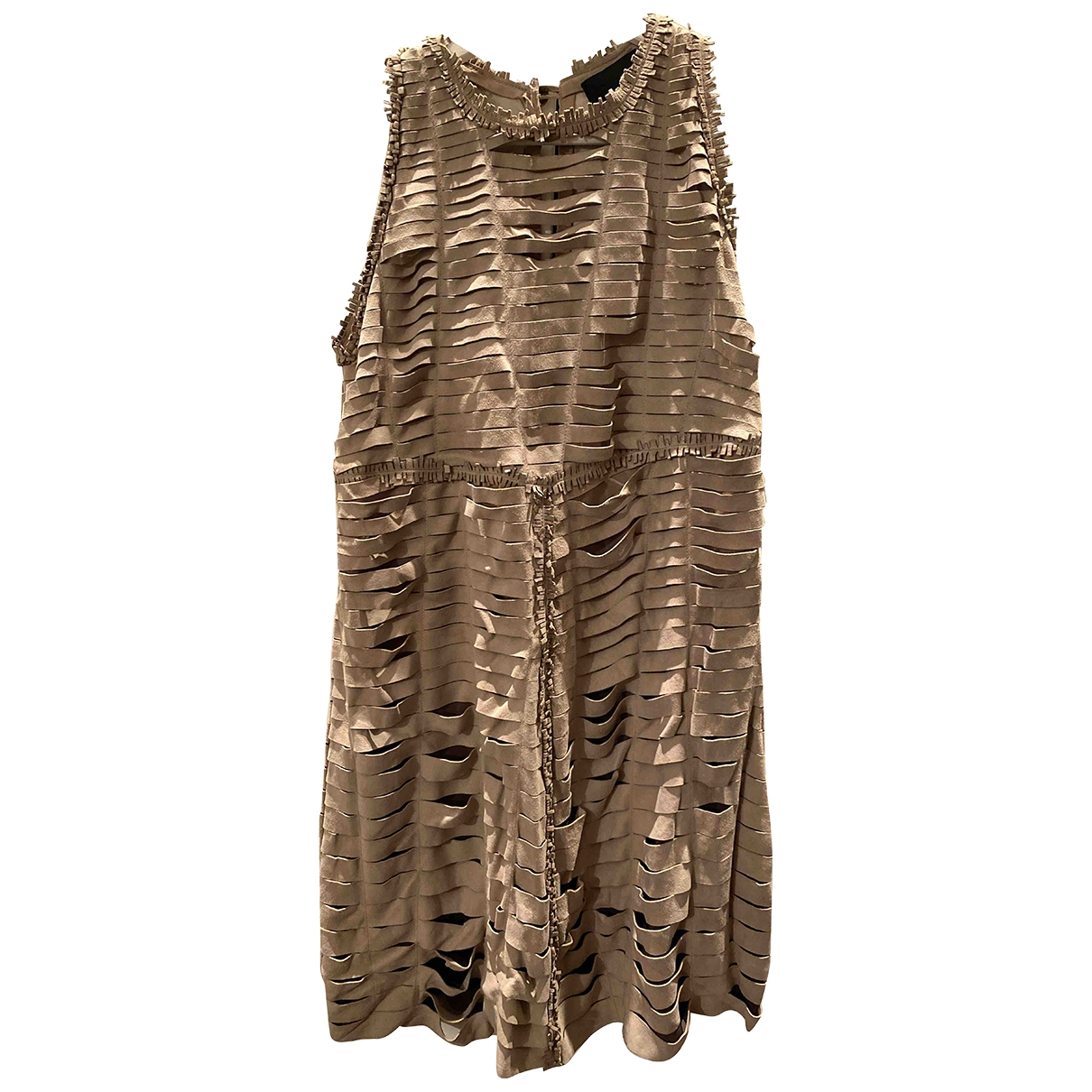 Just Cavalli \N Beige Suede dress for Women 40 IT