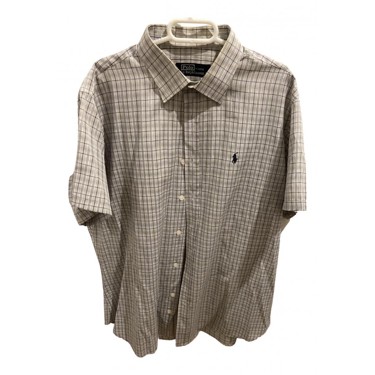 Polo Ralph Lauren \N Grey Cotton Shirts for Men XL International