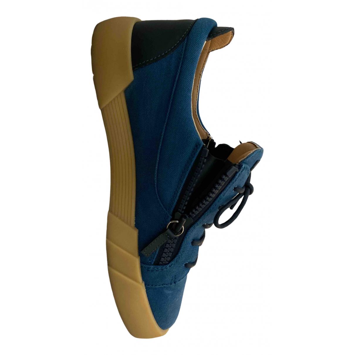 Giuseppe Zanotti - Baskets   pour homme en cuir - bleu