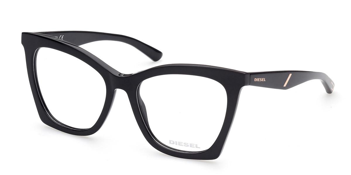 Diesel DL5400 001 Women's Glasses Black Size 55 - Free Lenses - HSA/FSA Insurance - Blue Light Block Available