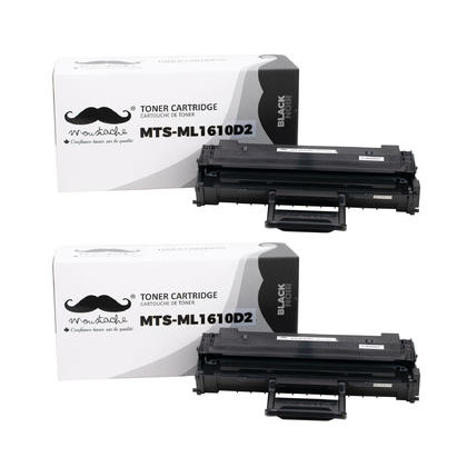 Compatible Samsung ML-1610D2 Black Toner Cartridge High Yield - Moustache - 2/Pack