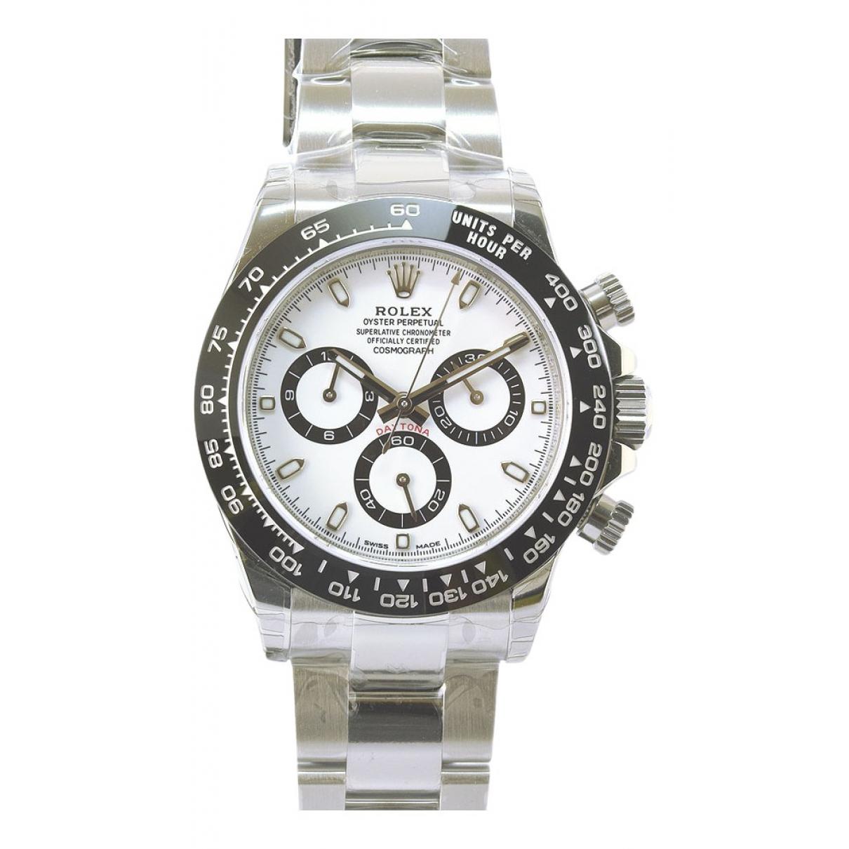 Rolex Daytona White Steel watch for Men \N