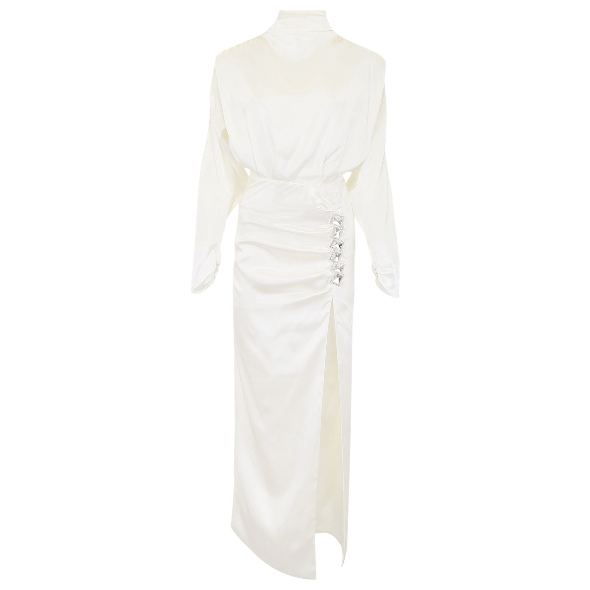 Alessandra Rich \N White Silk dress for Women 40 IT