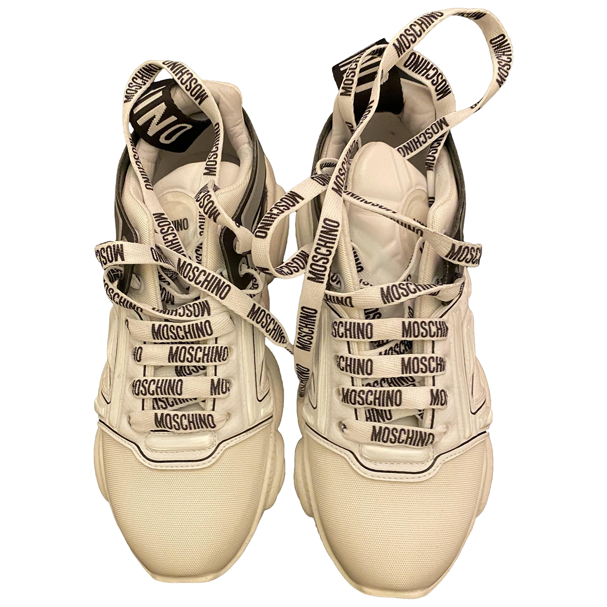 Moschino - Baskets   pour femme en toile - blanc