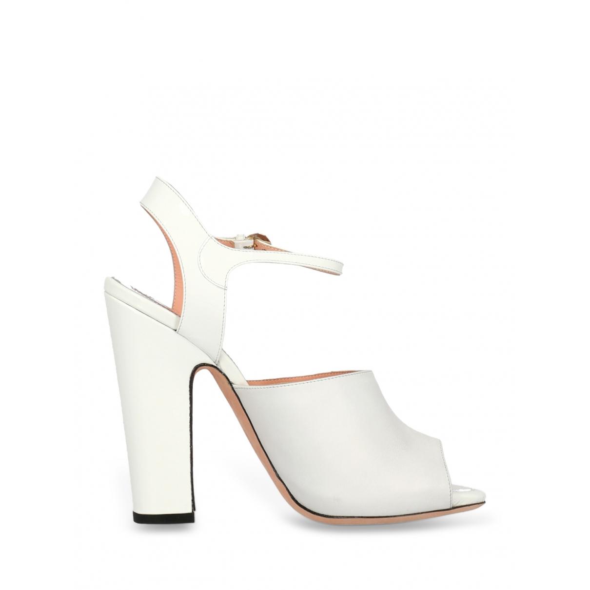 Rochas - Sandales   pour femme en cuir - blanc