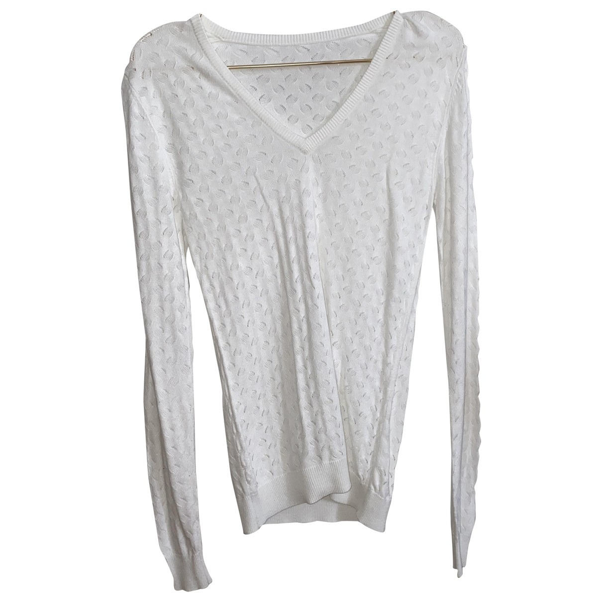 Non Signé / Unsigned \N White Cotton Knitwear for Women 36 FR