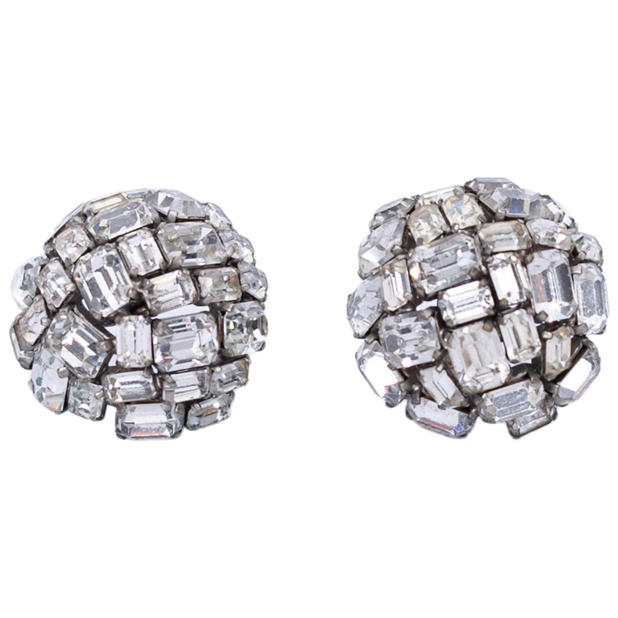 Chanel N Silver Metal Earrings for Women N