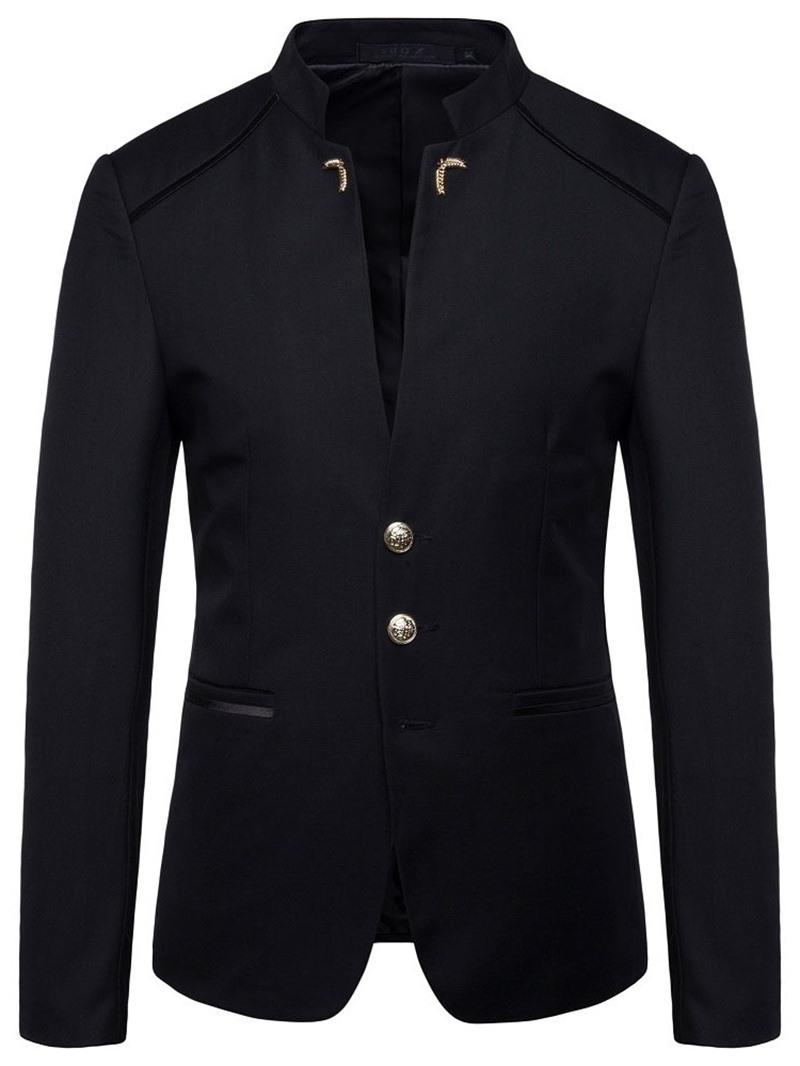 Ericdress Casual Pocket Plain Mens Blazers