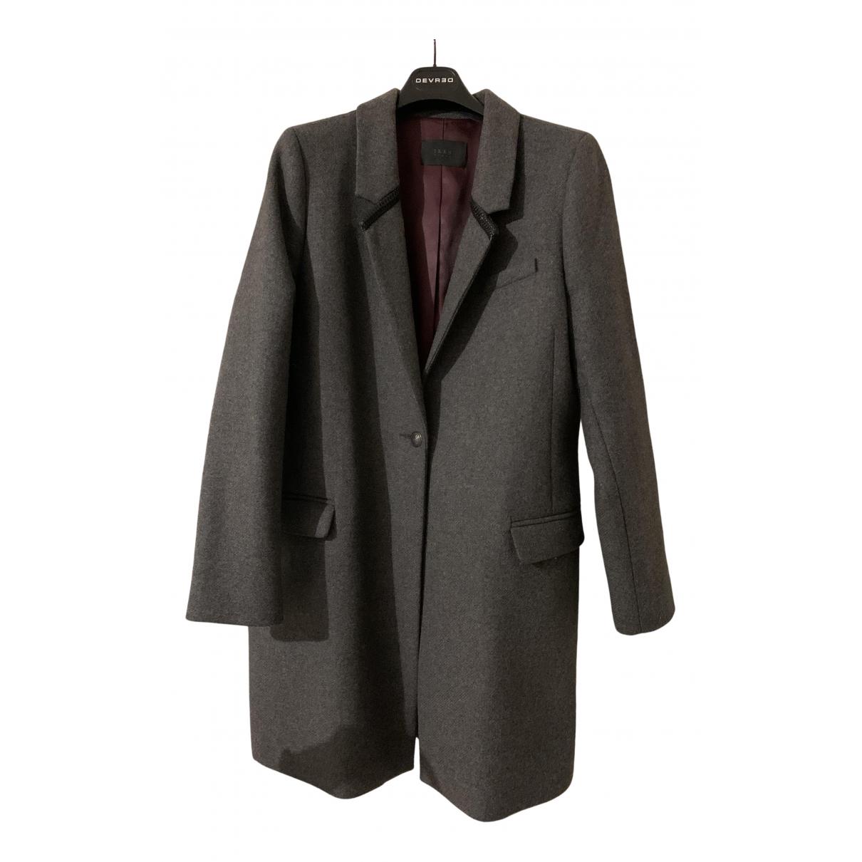 Ikks N Anthracite Wool coat for Women 44 FR