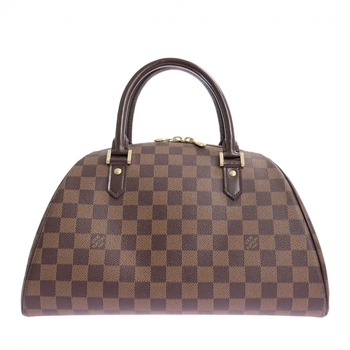 Louis Vuitton Ribera Handtasche in  Braun Leinen