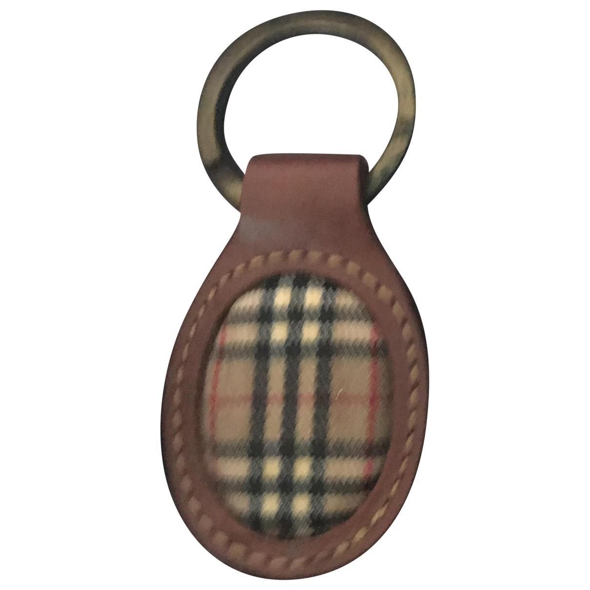 Burberry - Petite maroquinerie   pour femme en cuir - marron