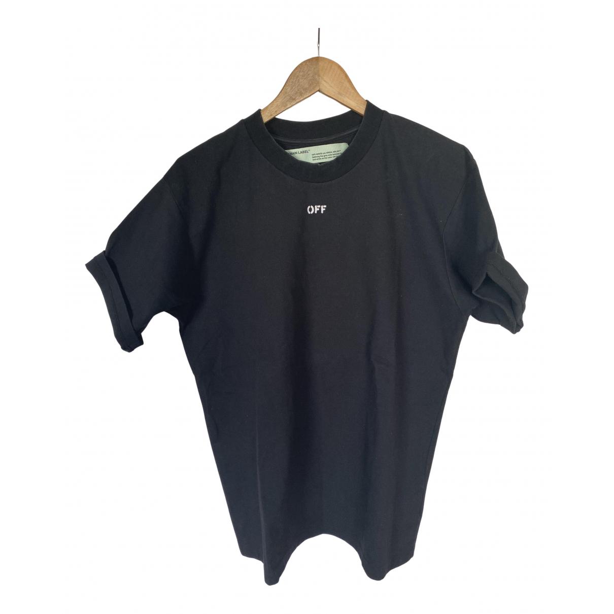 Off-white - Top   pour femme en coton - noir