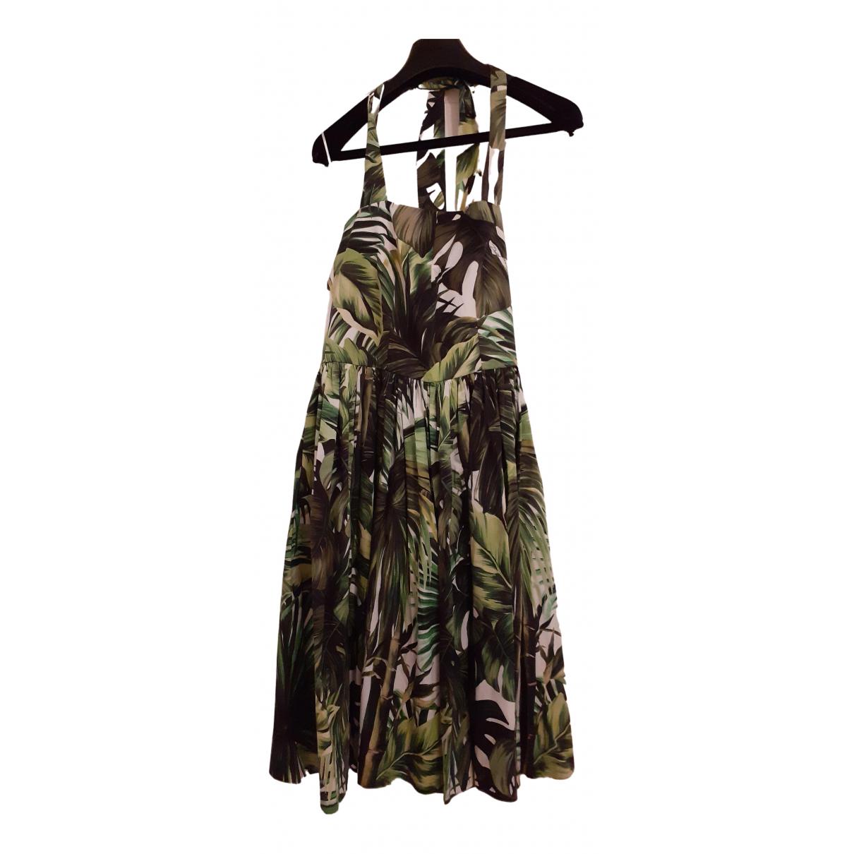 Dolce & Gabbana \N Khaki Cotton dress for Women 42 IT