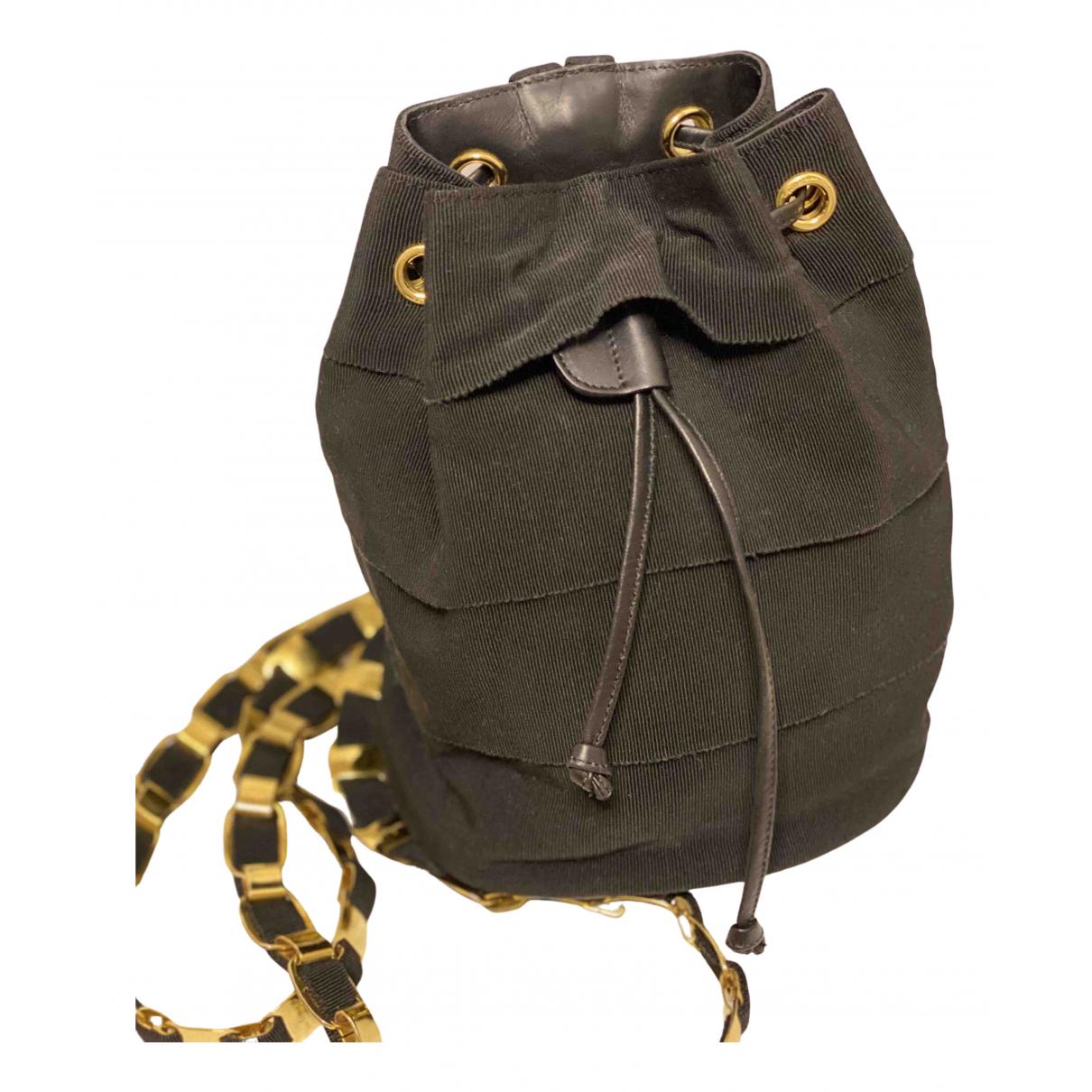 Salvatore Ferragamo \N Black Cloth backpack for Women \N