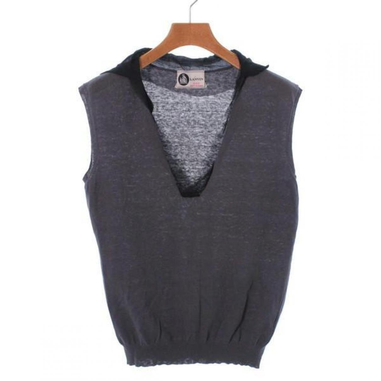 Lanvin - Pull   pour femme en coton - gris