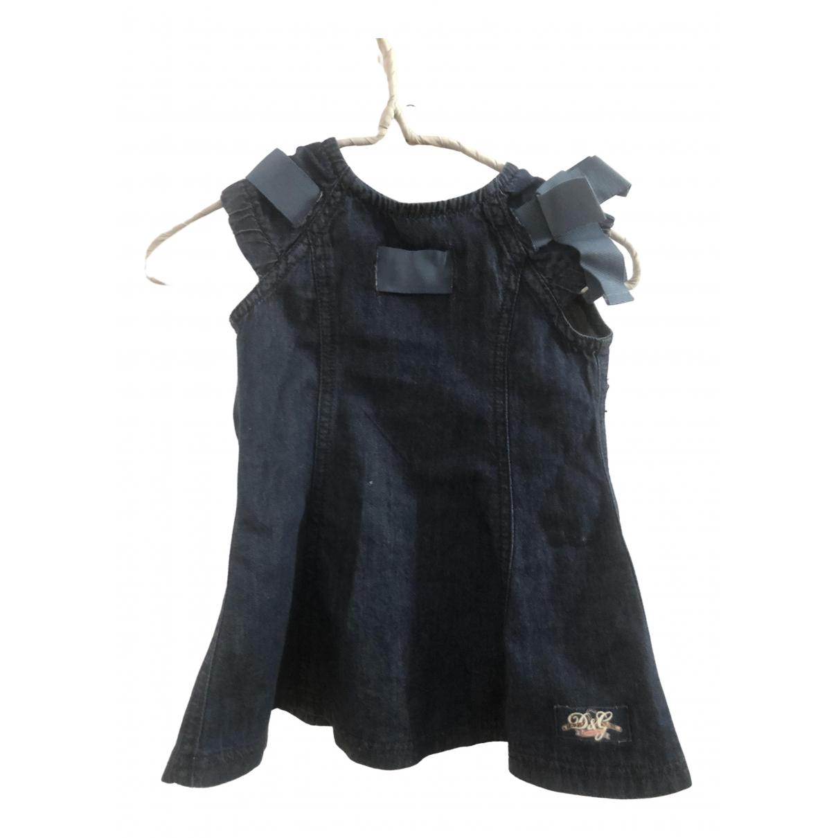 D&g - Robe    pour enfant en denim - bleu