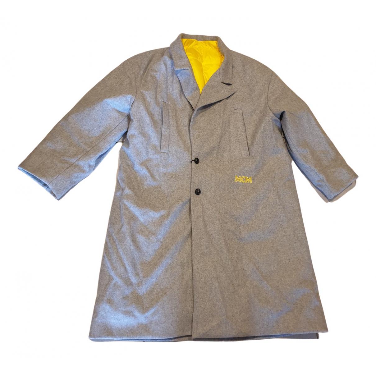Mcm \N Maentel in  Grau Wolle
