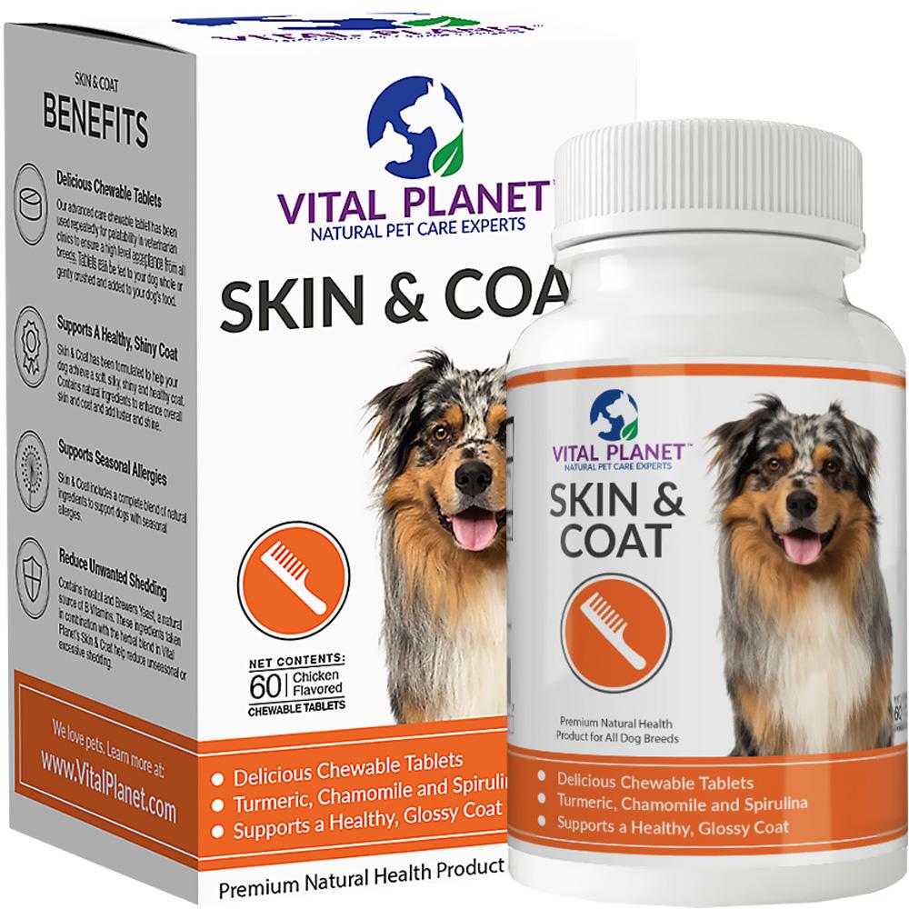 Vital Planet Skin & Coat (60 Chewable Tablets)