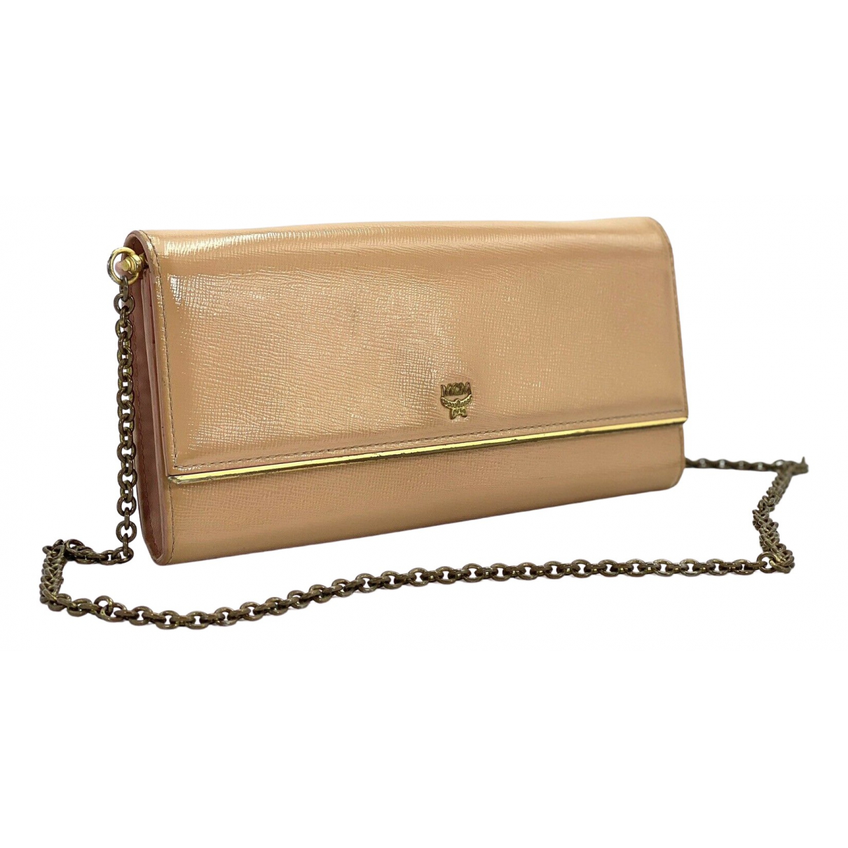 Mcm N Beige Leather Clutch bag for Women N