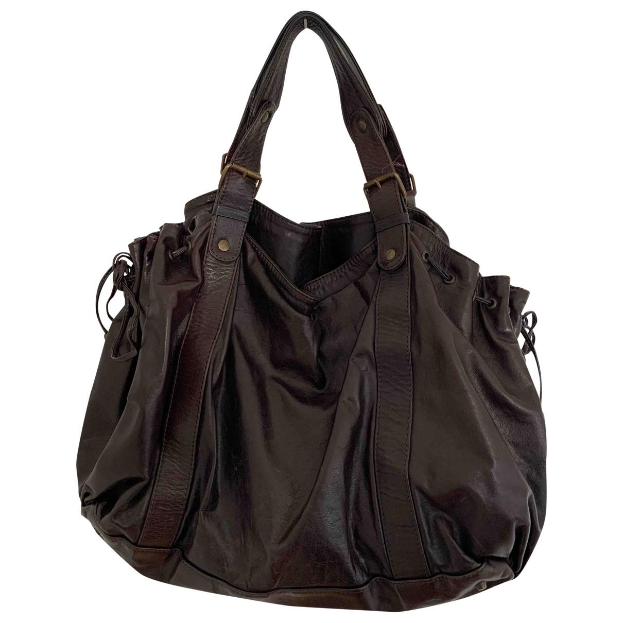 Gerard Darel 36 H Handtasche in  Braun Leder