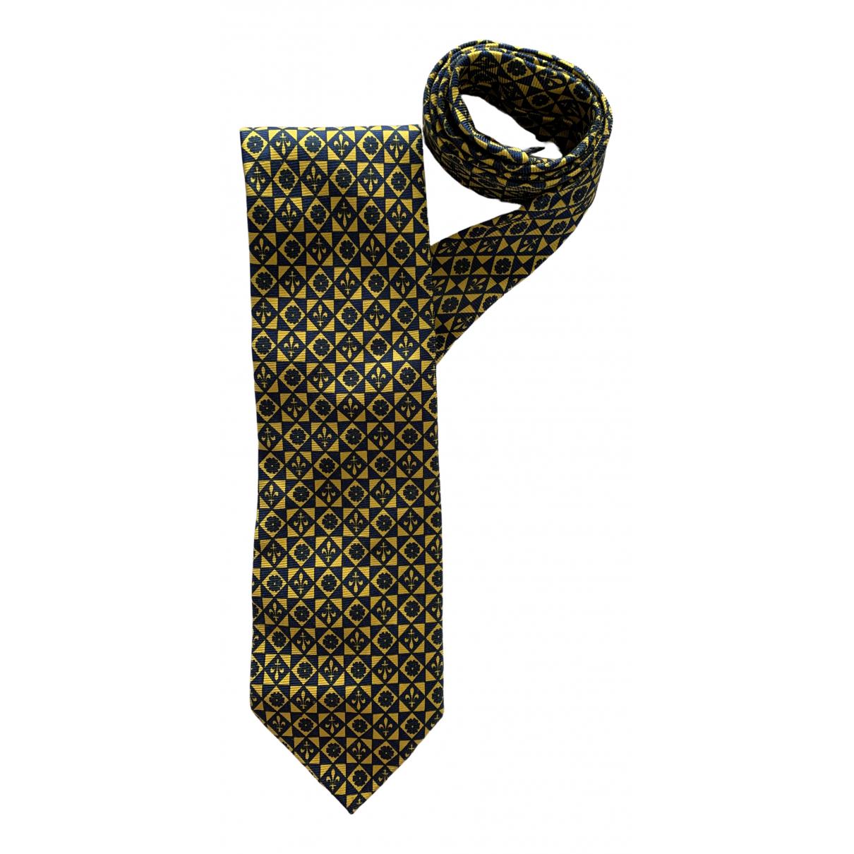 Longchamp \N Navy Silk Ties for Men \N