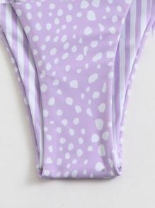 Dalmatian Bandeau Thong Bikini Swimsuit