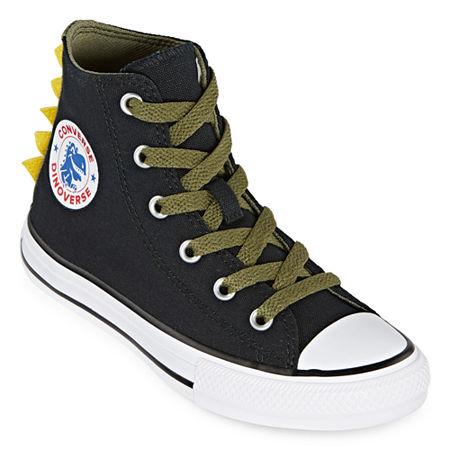 Converse High Top Dino Spikes Little Kid/Big Kid Boys Sneakers Lace-up, 2 Medium, Black