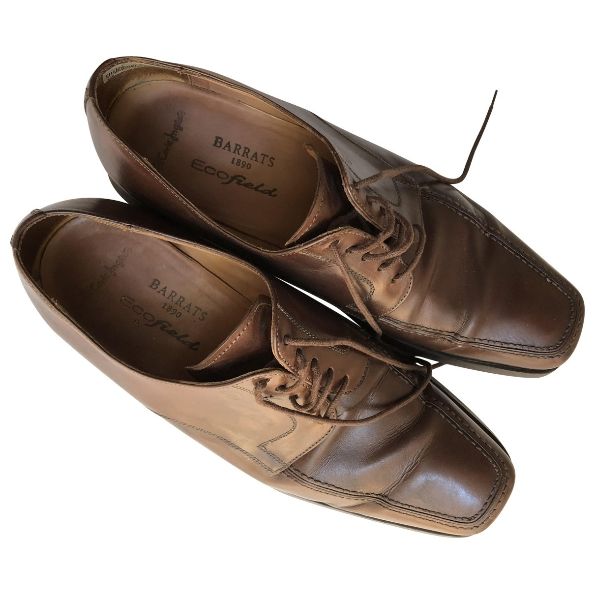 Barrats \N Brown Leather Lace ups for Men 43 EU