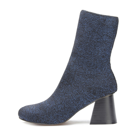 Yoins Glitter Embellished Elastic Short Boots in Blue