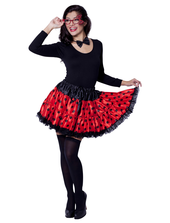 Petticoat Marienkaefer schwarz/rot